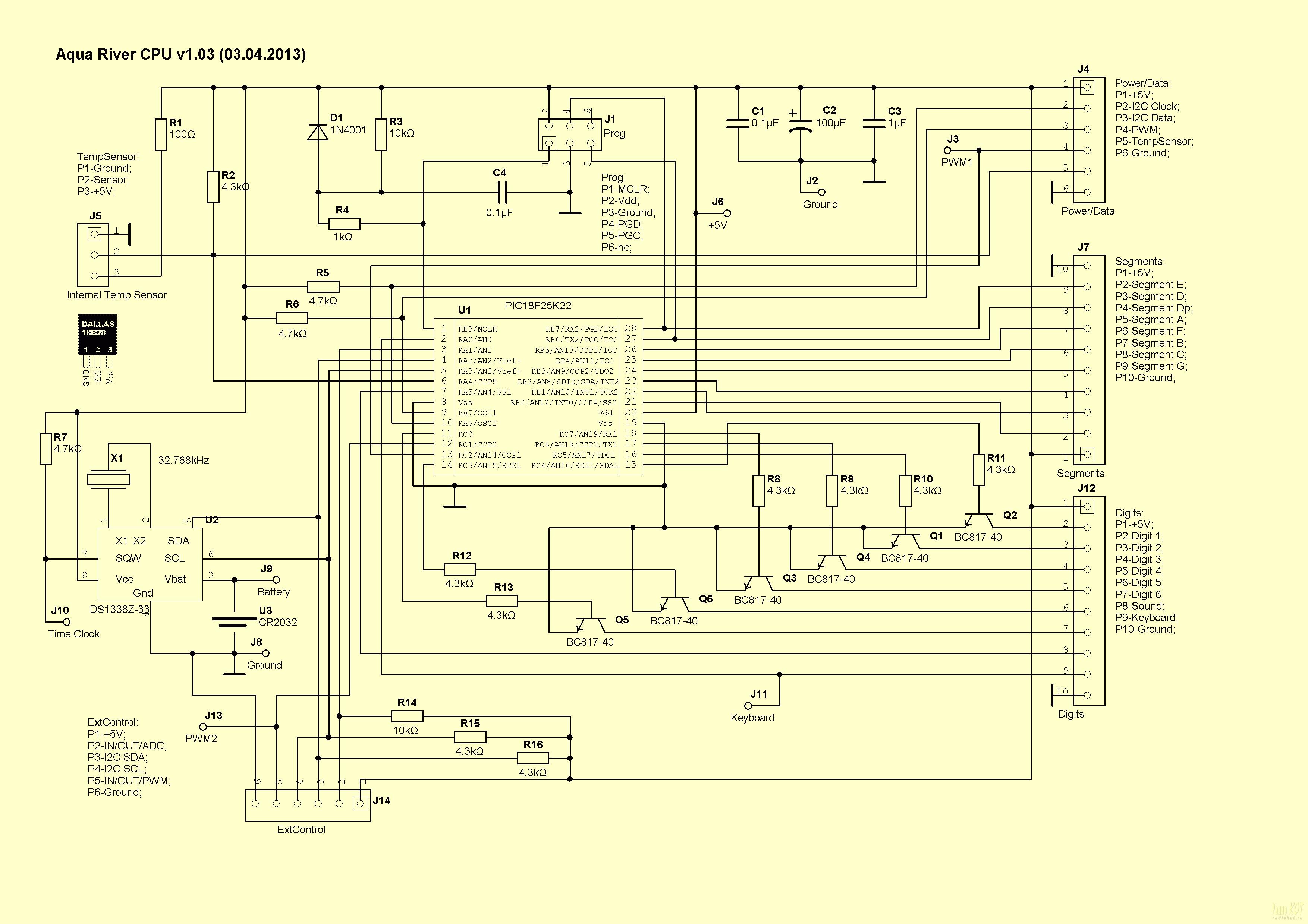 схема таймера на pic контроллере