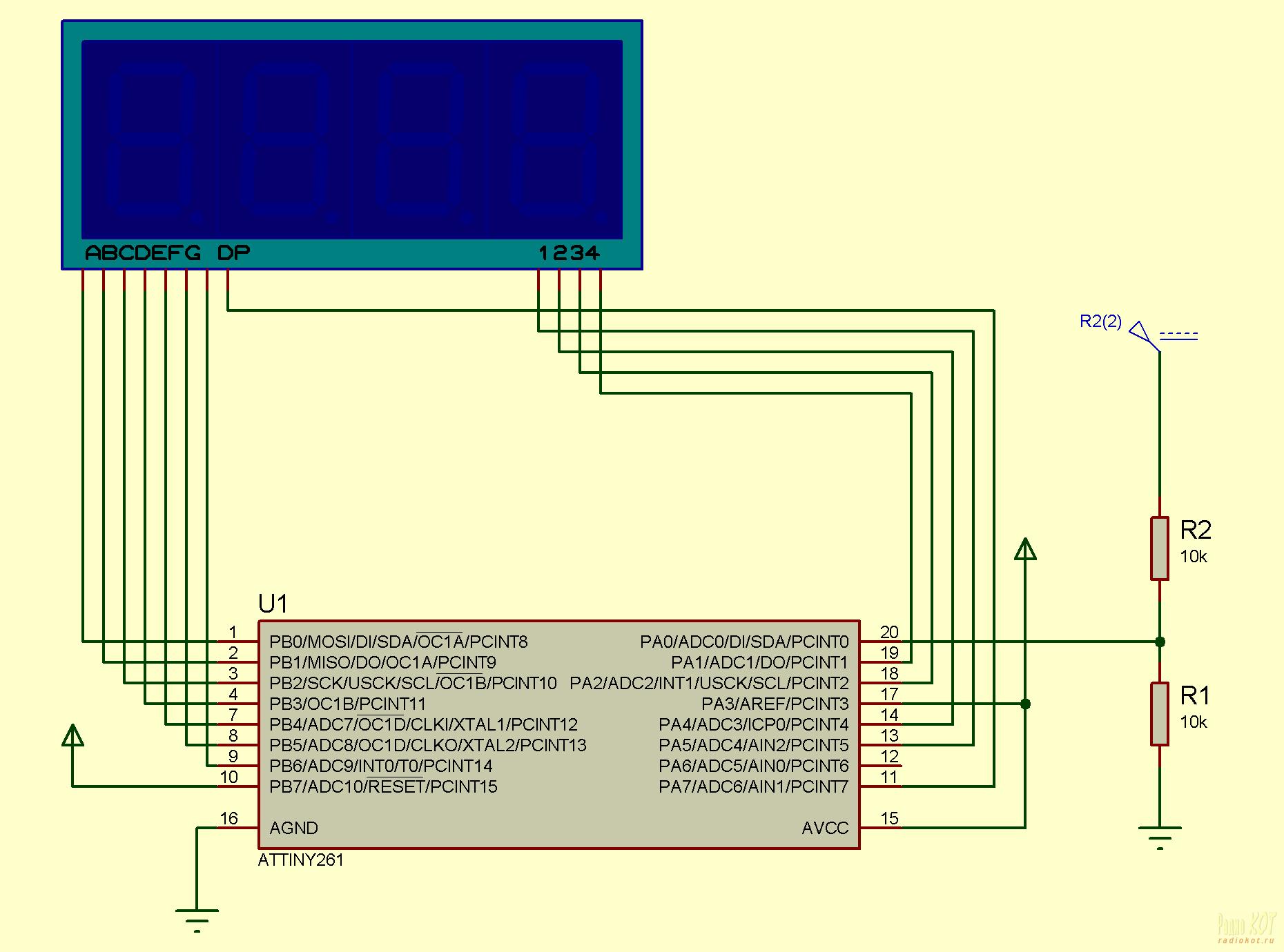 Программатор usb для attiny2313