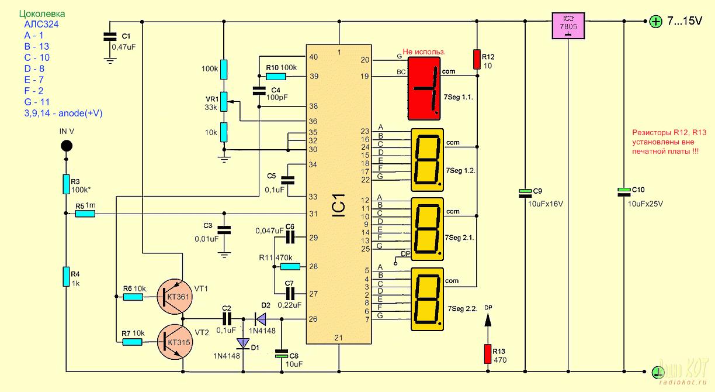 Цифровой индикатор напряжения и тока своими руками