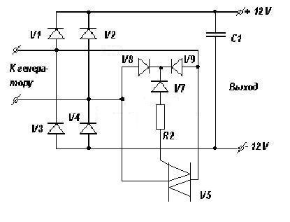 схема регулятора напряжения - Схемы.