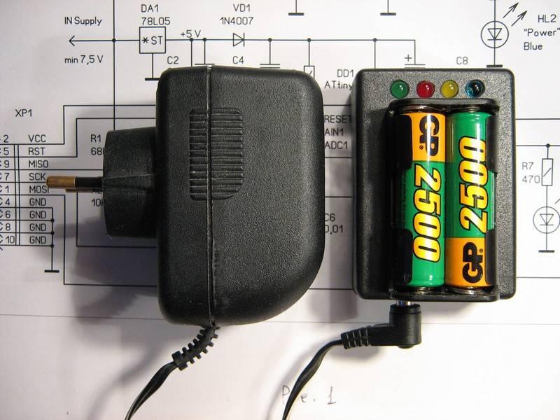 Зарядное устройство собрано в
